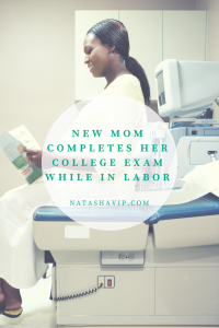 New Mom, Tommitrise, Completes Her College Exam While in Labor